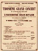 Concert Program, January 1875 Lausanne. Felix Draeseke composer and pianist. Click for larger version