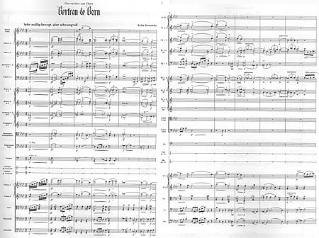 Draeseke: Overture to the Opera Bertran de Born (pages 1 & 2) click for larger version in a new window