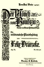 Download a pdf copy of the score to Der Mönch von Bonifazio
